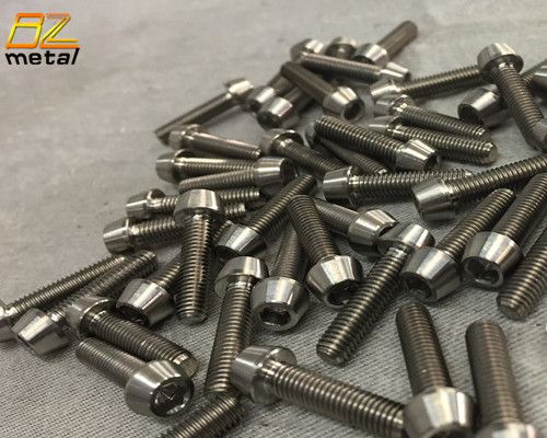 Titanium Tapered socket head bolts