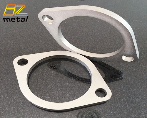 89mm 102mm Gr1Gr2  titanium exhaust pipe flange on 2 bolts